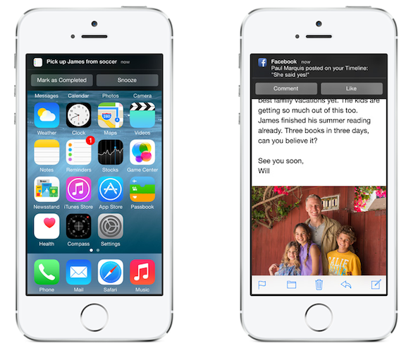 Interactive Notifications on iOS 8