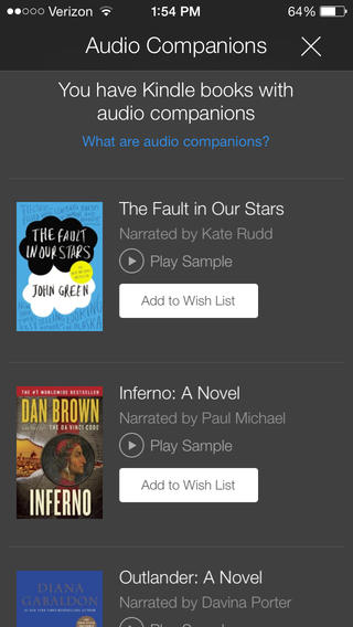 Kindle 4.3 for iOS (iPhone screenshot 002)