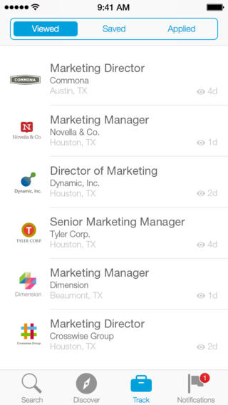 LinkedIn Job Search 1.0 for iOS (iPhone screenshot 001)