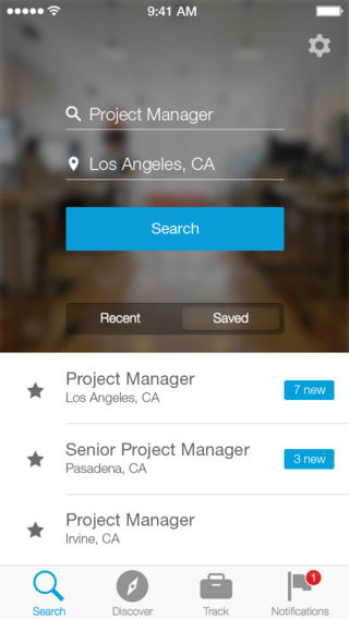 LinkedIn Job Search 1.0 for iOS (iPhone screenshot 003)