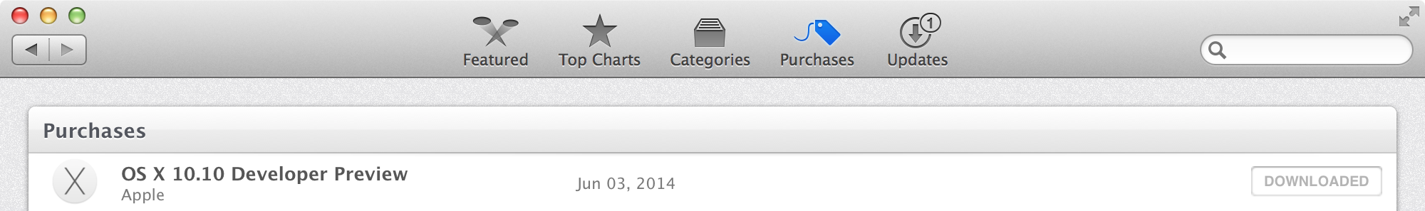Mac App Store Yosemite
