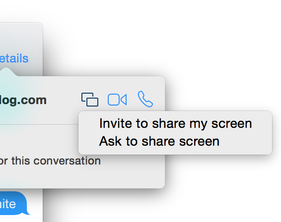 Messages Screenshare feature