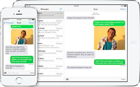 Messaging iOS 8