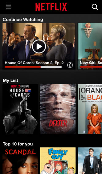 Netflix 6.0 for iOS (iPhone screenshot 001)