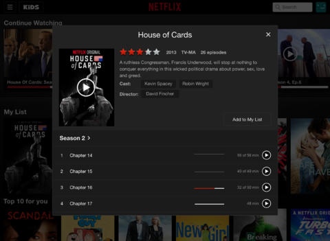 Netflix 6.0 for iOS (iPhone screenshot 002)