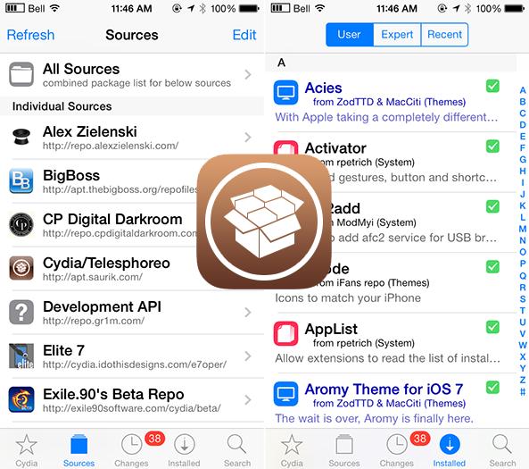 New Cydia iOS 7