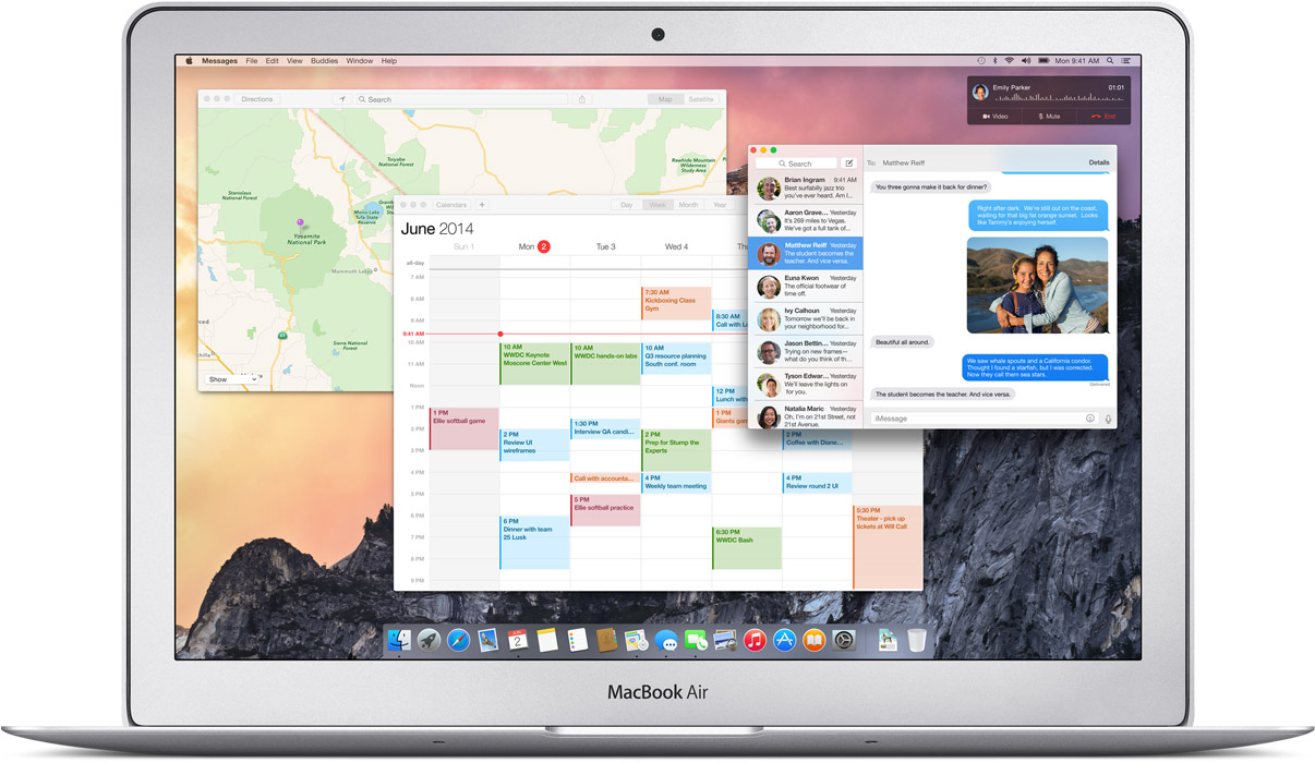 OS X Yosemite (Continuity, Phone Call)