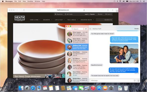 OS X Yosemite Desktop
