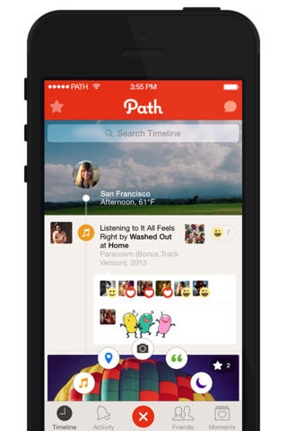 Path 40 for iOS (iPhone screenshot 001)