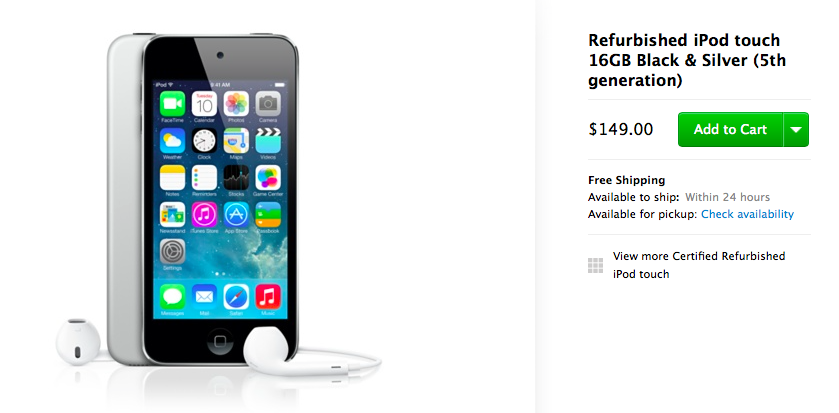 Refurbished 149USD iPod touch