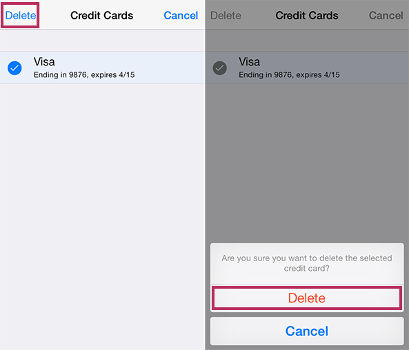 how to remove a credit card from iphone how to remove credit card info from icloud keychain 20961