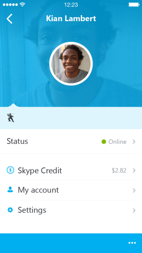 Skype 5.0 for iOS (iPhone screenshot 004)