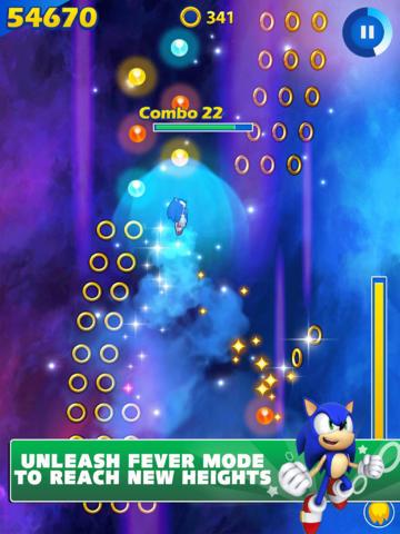 Sonic Jump Fever (iPhone screenshot 003)