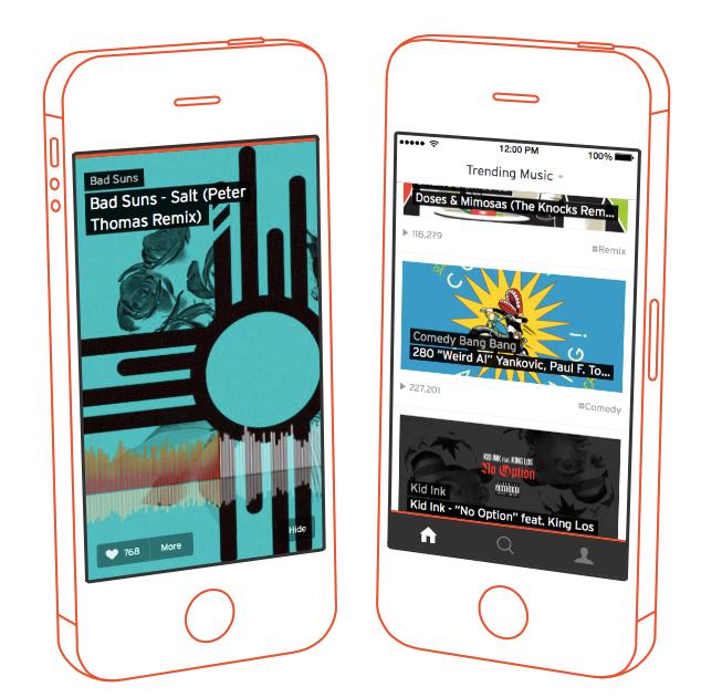 SoundCloud 3.0 para iOS (rediseño de iPhone 002)