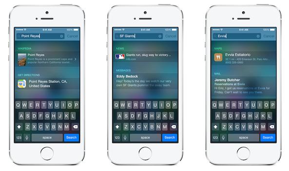Spotlight on iOS 8 Trio