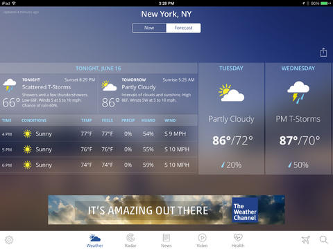 The Weather Channel 4.0 for iPad (Screenshot 001)