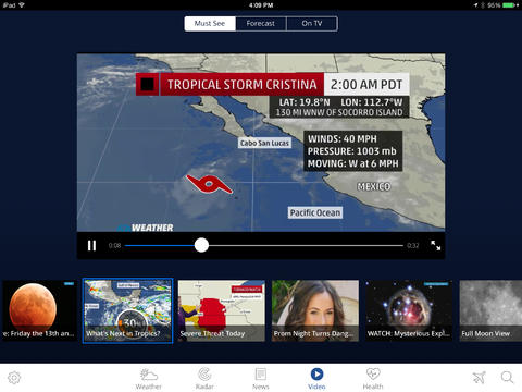 The Weather Channel 4.0 for iPad (Screenshot 005)