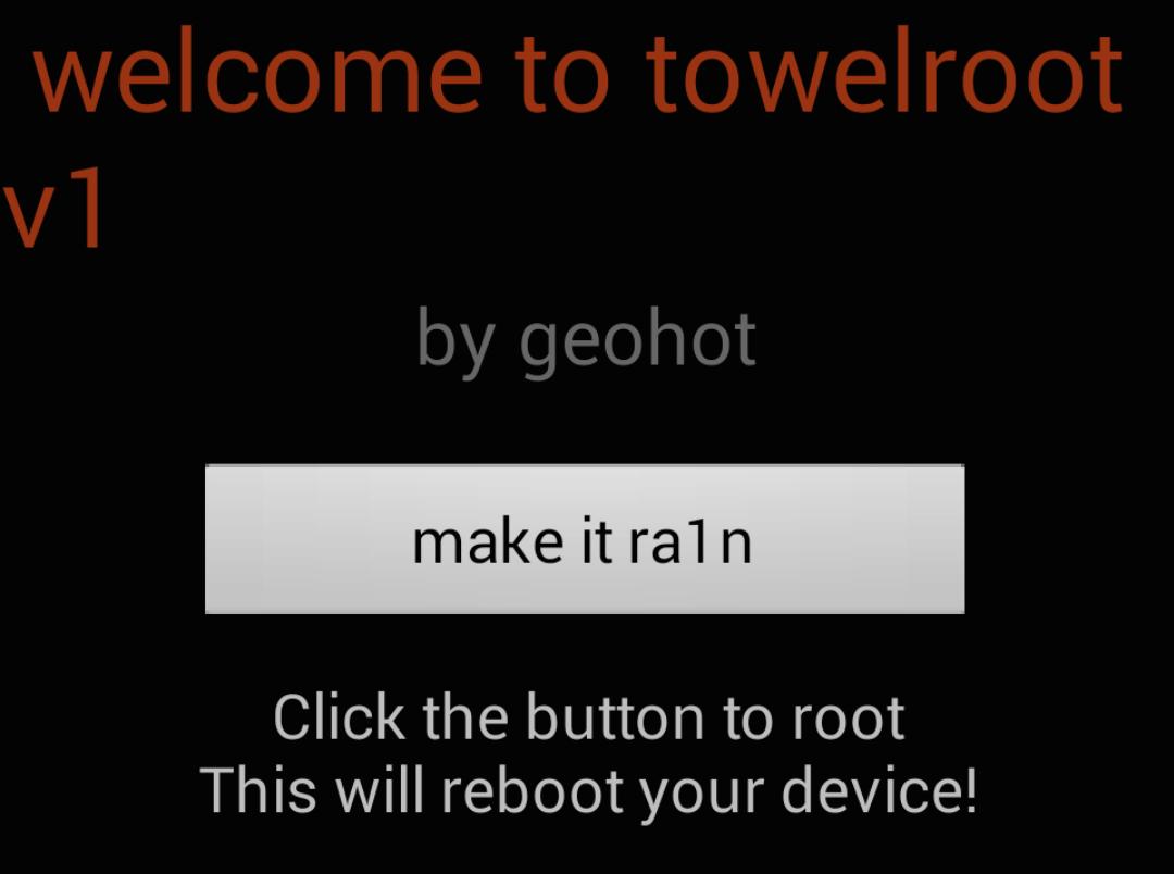 Towelroot Make it Ra1n