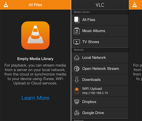 VLC for iOS Side by Side