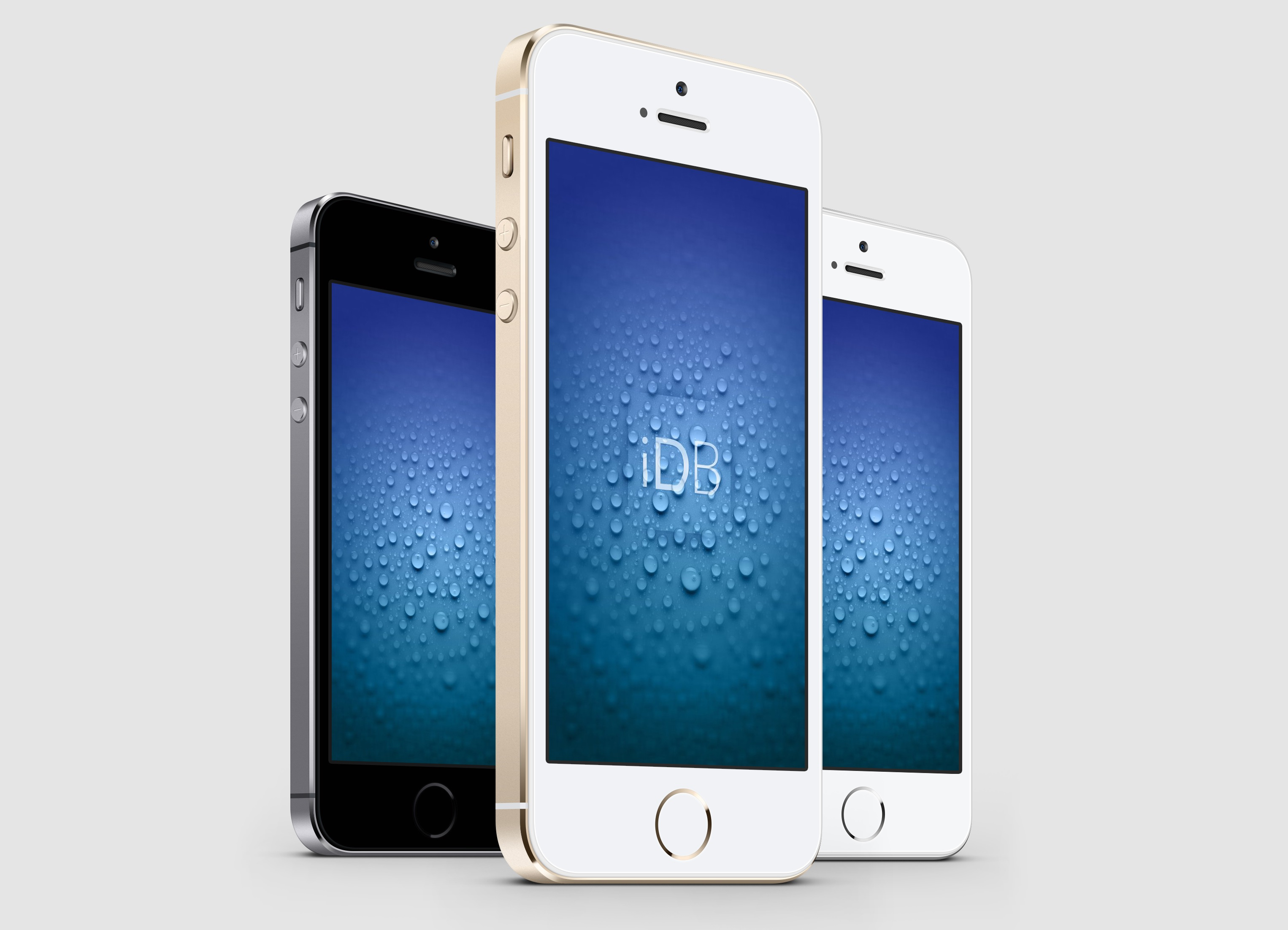 Wallpaper iDB droplet splash