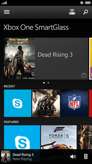 Xbox One SmartGlass 2.5 for iOS (iPhone screenshot 001)