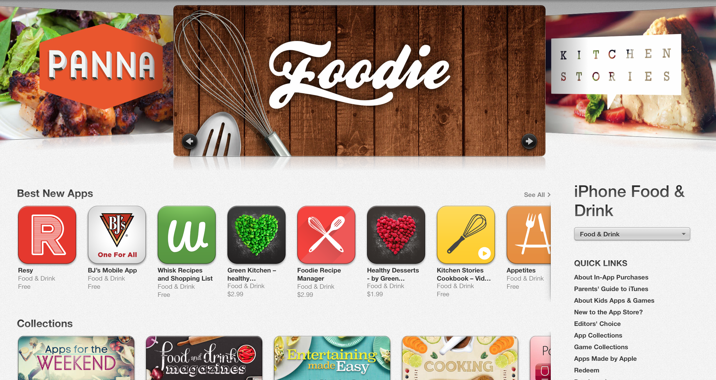 app store food and drink