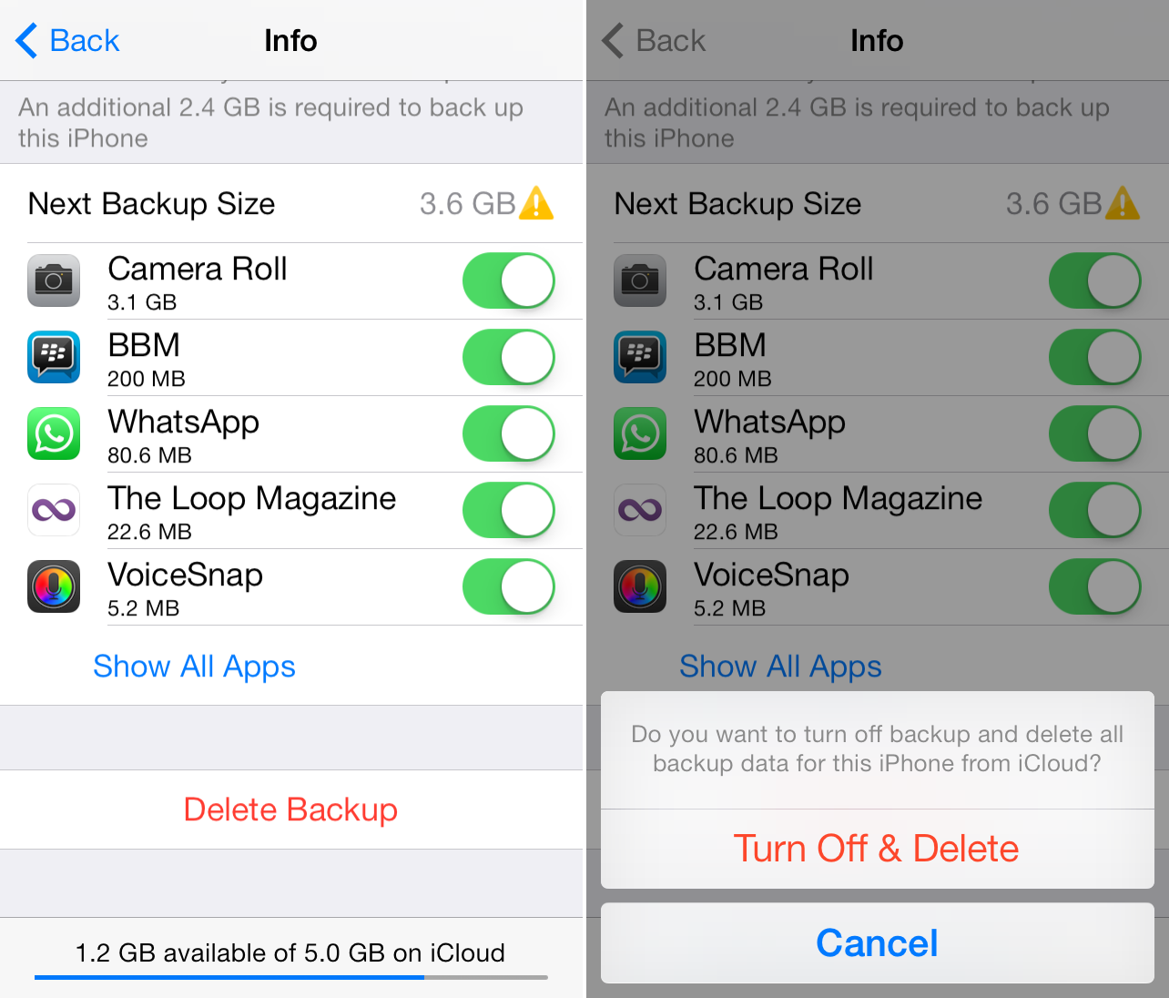 how to backup your iphone on icloud how to delete icloud backups on iphone 5093