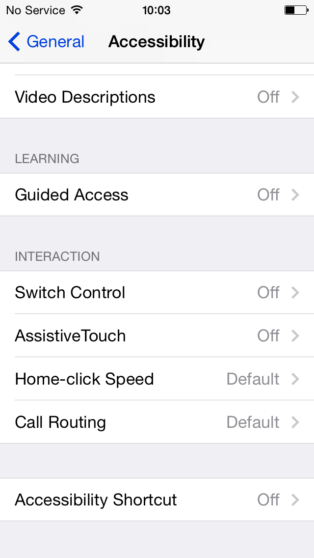 iOS 8 (Accessibility, Interaction)