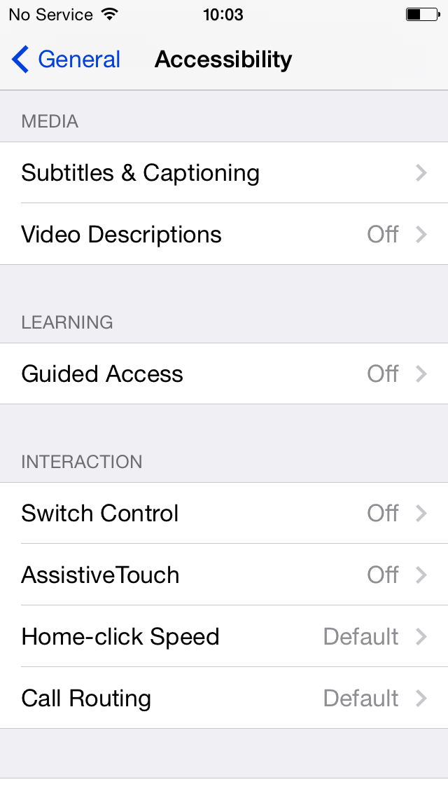 iOS 8 (Accessibility, Subtitles and Captioning)
