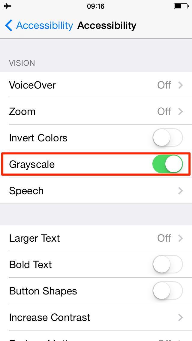 iOS 8 (Accessibility, Vision 001)