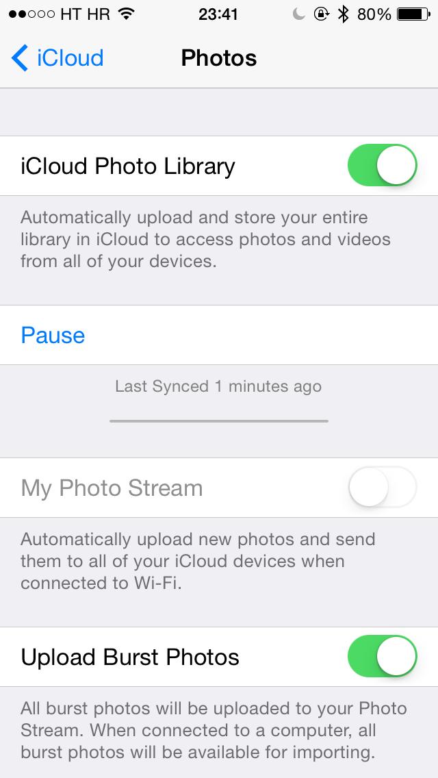 iOS 8 Beta 2 (iCloud Photos settings 001)