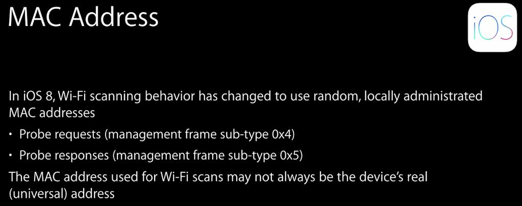 iOS 8 (MAC address randomization 001)