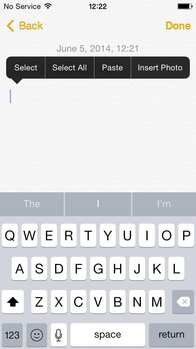 iOS 8 Notes (iPhone screenshot 003)