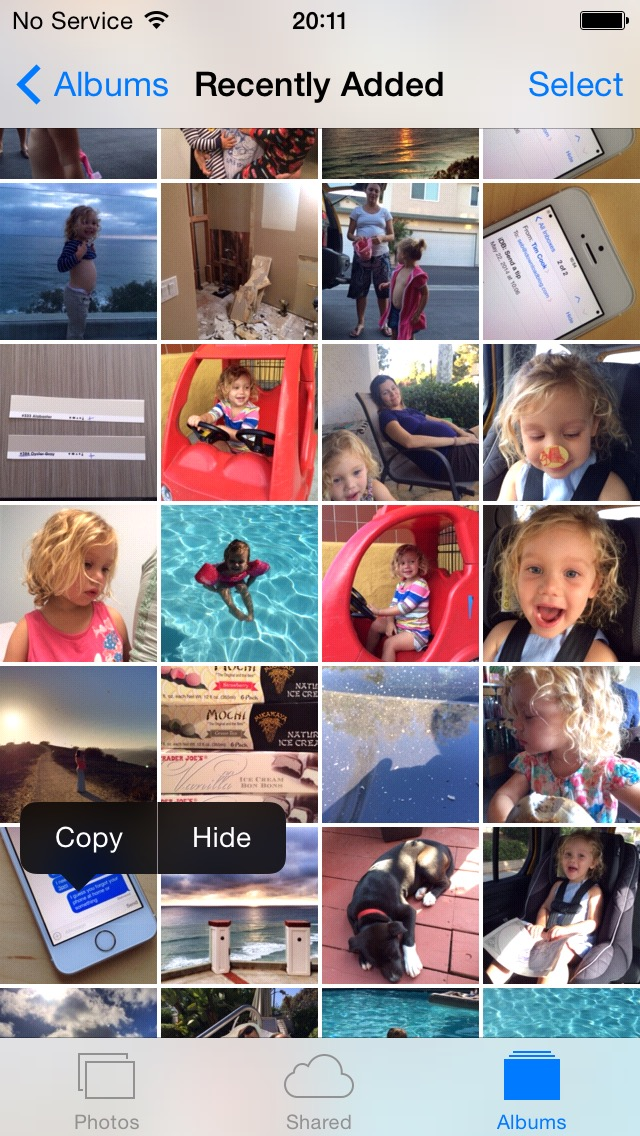 iOS 8 (Photos, Hide Photo 001)