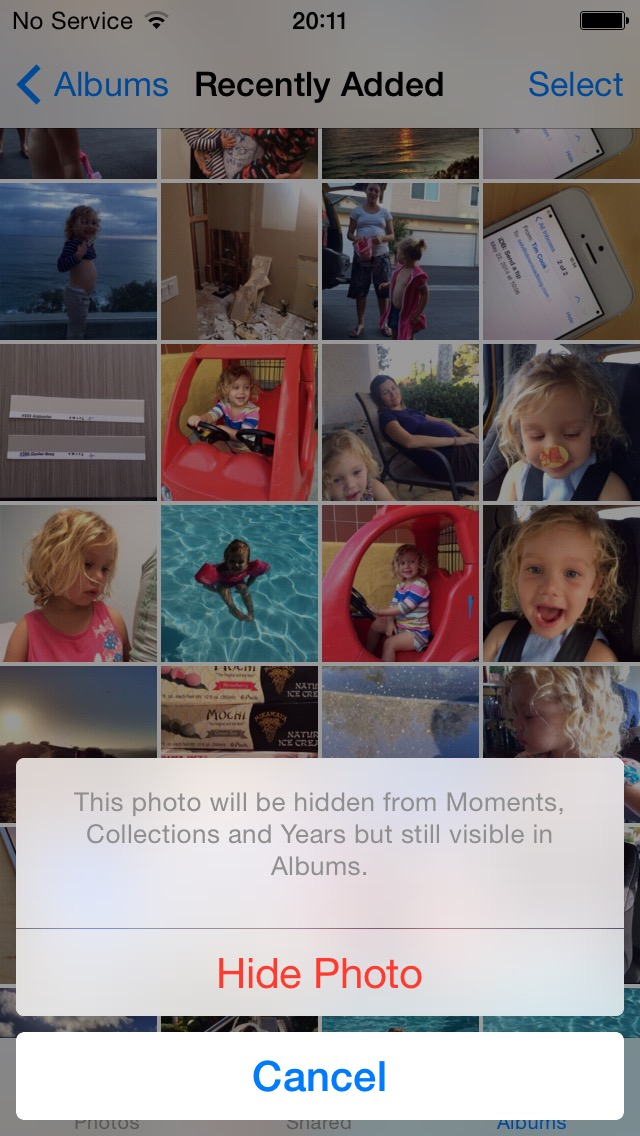 iOS 8 (Photos, Hide Photo 002)