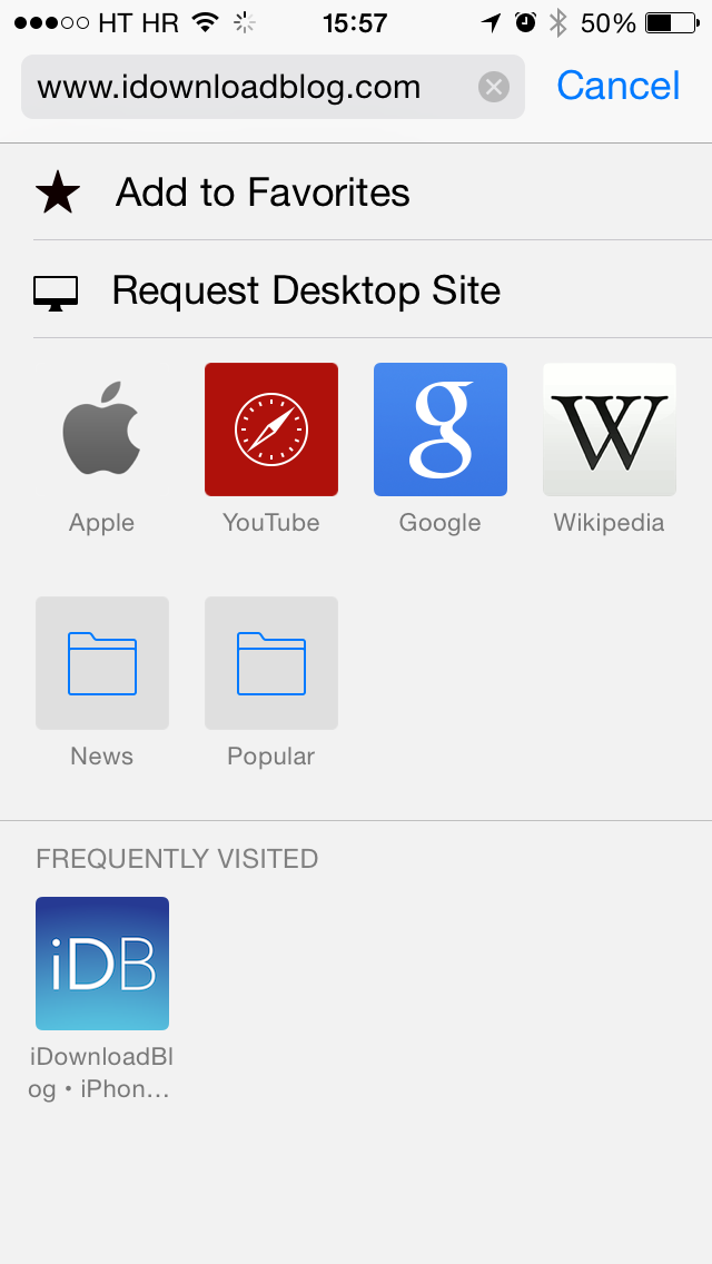 iOS 8 (Safari, iDownloadBlog homepage 004)