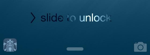 iOS 8 (Starbucks app on Lock screen)