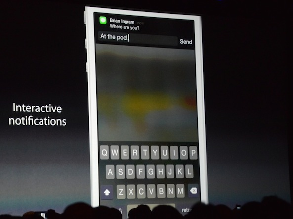 iOS 8 interactive notifications quick reply