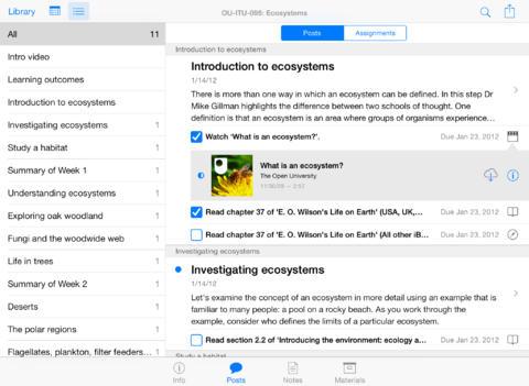 iTunes U 1.4.1 (captura de pantalla 001 del iPad)