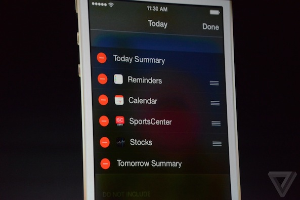 ios 8 add widget