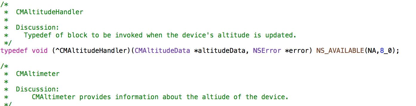 xcode altitude