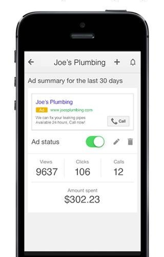 AdWords Express 1.0 for iOS (iPhone screenshot 002)