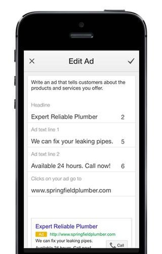 AdWords Express 1.0 for iOS (iPhone screenshot 003)