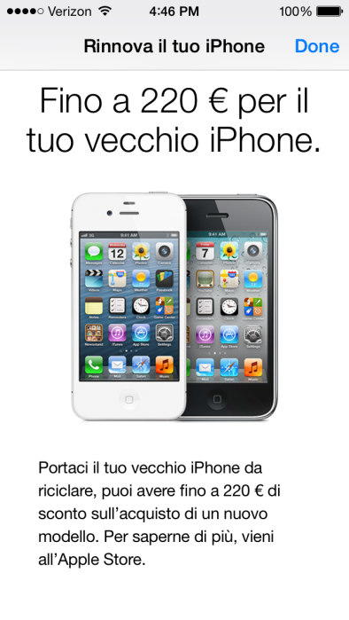 Apple Store app (iPhone trade-in, Italy 001)