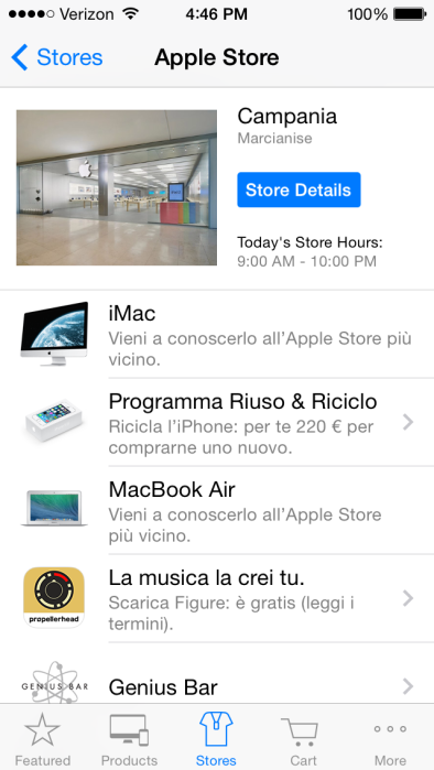 Apple Store app (iPhone trade-in, Italy 002)
