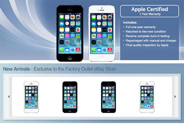 Apple eBay store (unlocked iPhone 5 refurb)