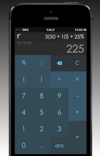 Calc 3.2.2 for iOS (iPhone screenshot 001)