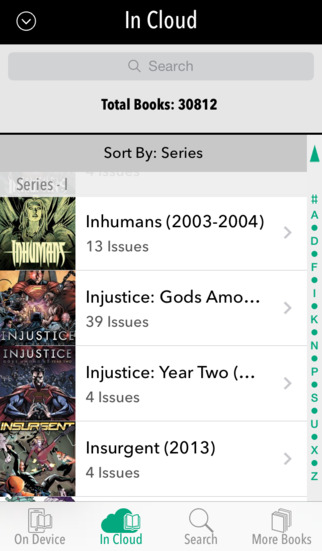 Comixology 3.6.2 for iOS (iPhone screenshot 001)