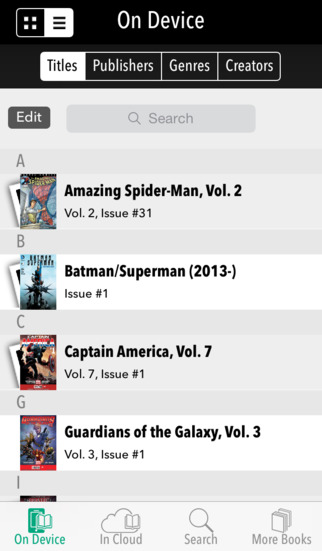 Comixology 3.6.2 for iOS (iPhone screenshot 002)