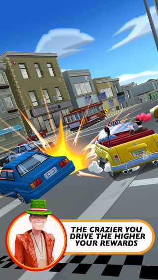 Crazy Taxi City Rush 10 for iOS (iPhone screenshot 001)